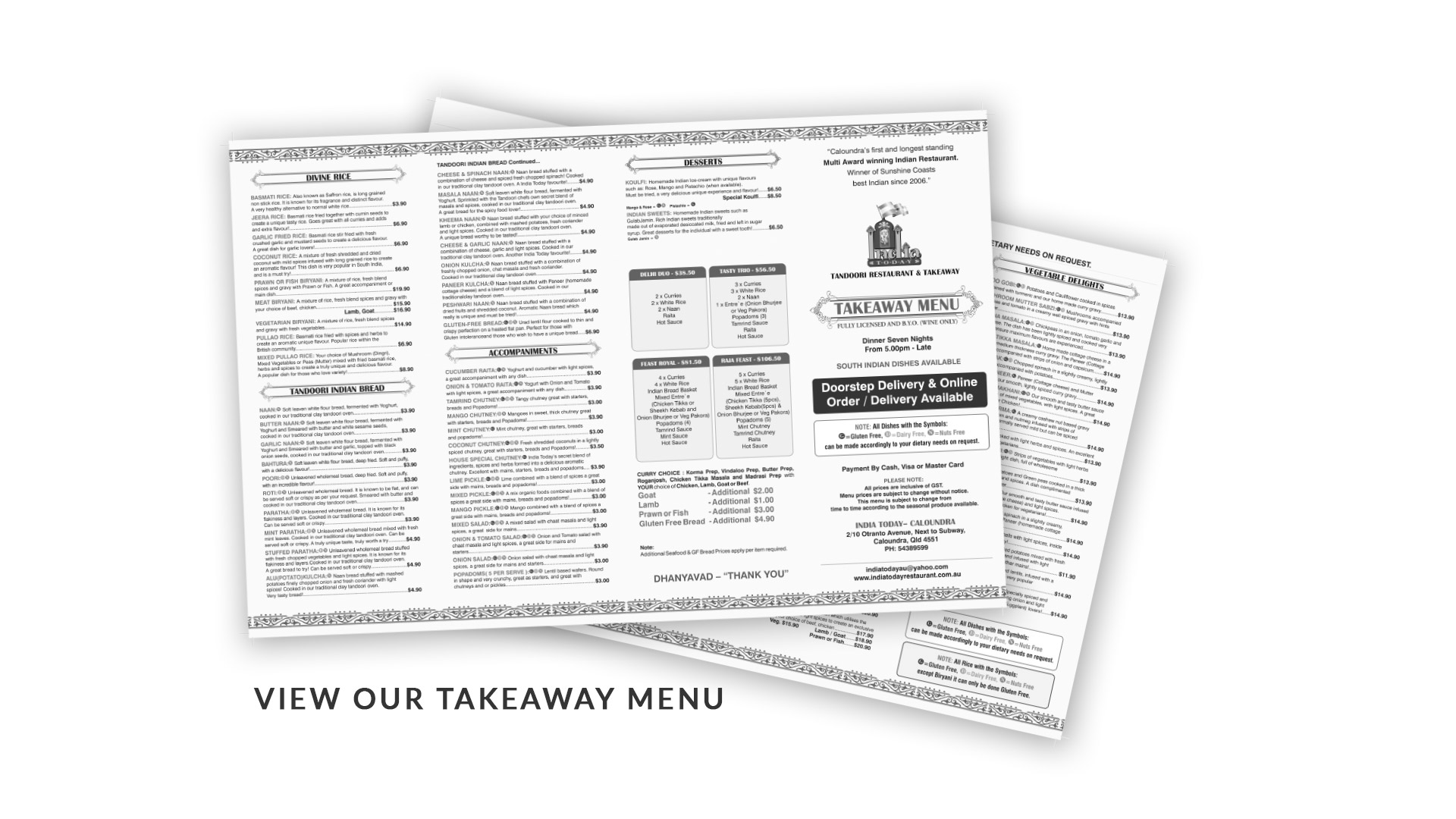 Click here to download our current Takeaway Menu